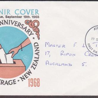 Новая Зеландия 1968 ВСЕОБЩЕЕ ГОЛОСОВАНИЕ ВЫБОРЫ ГРАЖДАНСКОЕ ОБЩЕСТВО ПРАВОВОЕ ГОСУДАРСТВО КПД Mi489