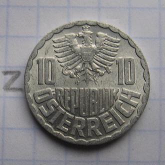АВСТРИЯ, 10 грошей 1974 года.