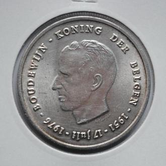 Бельгия 250 франков 1976 г., UNC, '25 лет правления Короля Бодуэна I'