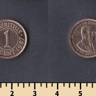 Маврикий 1 цент 1987