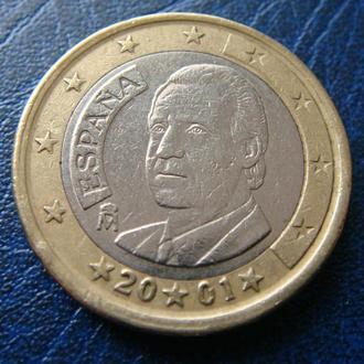Испания 1 евро 2001