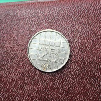 Нидерланды, 25 центов,1983г.