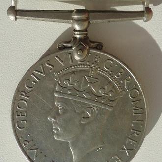 Великобритания 1939-1945 гг король Георг 6  медаль участника войны