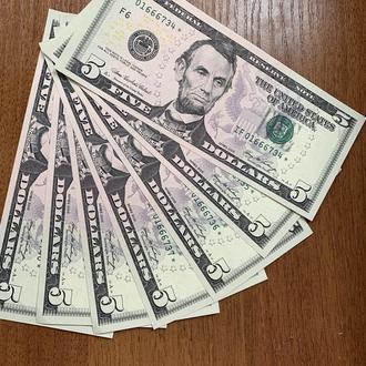 5 долларов замещения* США 2006г. в UNC из пачки