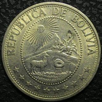 Боливия 1 боливано 1968 год
