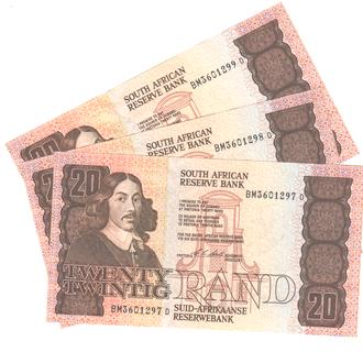 Южная Африка 20 рандов 1990-1993г. в UNC