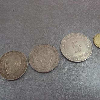 германия 2 марки 1969 1979, 5 марок 1992 №5451