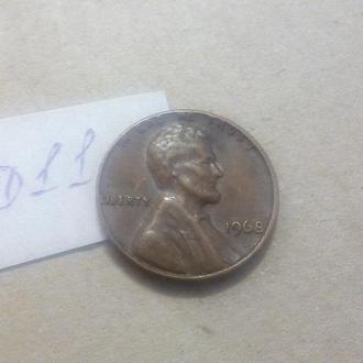 1 цент 1968 США
