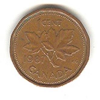 1 цент Канада 1987