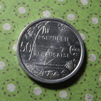 Полинезия 1965 год монета 50 сентимов !