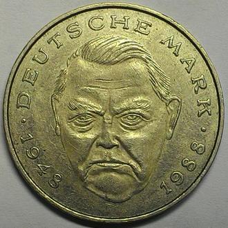 2 марки 1992 г. J. ФРГ СОСТОЯНИЕ!!!