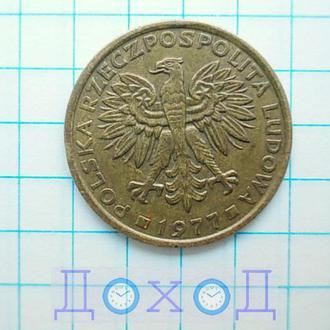 Монета Польша 2 злотых 1977 Латунь