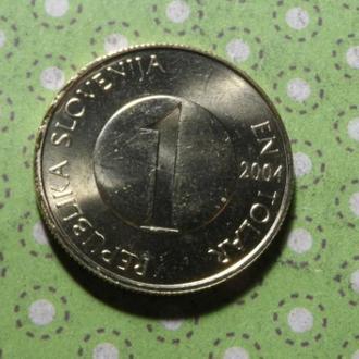 Словения 2004 год монета 1 толар рыба !