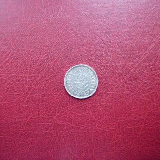 Египет 2 пиастра 1942 Редкая серебро