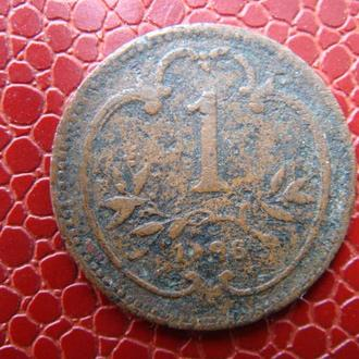 Австрия 1 геллер 1896 год