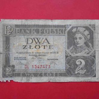 ПОЛЬША 1936 2 злотых, Серия DL