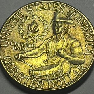 США 25 центов 1976 год