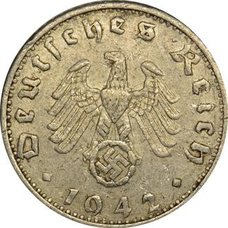 Німеччина 50 Pfennig 1942 F