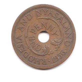 Родезия и Ньяса  1956 г - 1 пенни