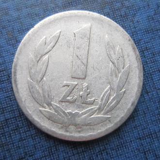 монета 1 злотый Польша 1949