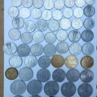 Монеты ГДР погодовка