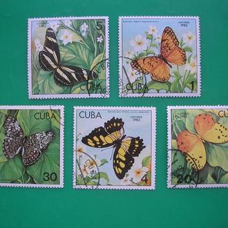 Куба 1982 Бабочки  *