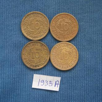 Германия 10 пфеннингов 1935 г  A