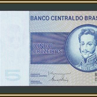 Бразилия 5 крузейро 1979 P-192 (192d) UNC