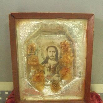 икона спасителя венчальная венок свадебный №11027