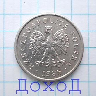 Монета Польша 50 грошей 1995 Polska groszy немагнит №1