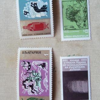 марки с 1гр-Болгария (А2) -   гашеная 1981г-4марки