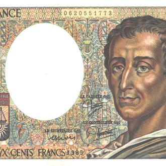 Франция 200 франков 1985г. в UNC