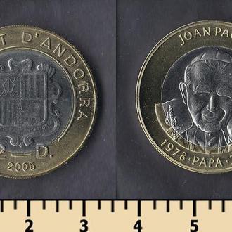 Андорра 2 динера 2005
