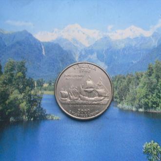 "США 25 центов 2000 г. Вирджиния/""Р"""