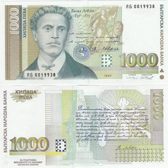 Bulgaria Болгария - 1000 Leva 1997 serie ЯБ replacement UNC JavirNV