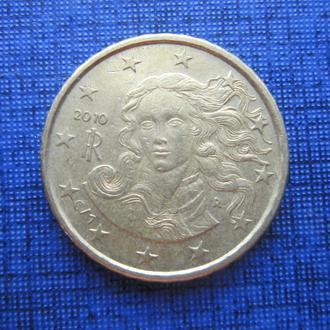 монета 10 евроцентов Италия 2010