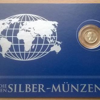 Австралия – 3 пенса 1963 год СЕРЕБРО Ag блистер из серии Die Kleinsten Silber-Munzen + сертификат