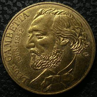 Франция 10 франков 1982 UNC!! год Леон Мишель Гамбетта! РЕДКАЯ!!!!!!