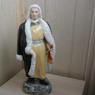 Китайская фарфоровая статуэтка «Маньчжурский воин Сонг Джинг Ши  Династия Цин» 50-е