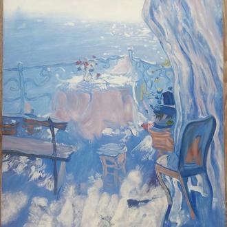 "Картина ""Терасса"", 50х60см, холст, масло"