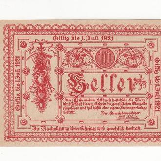 Нотгельд 10 геллеров Эдльбах 1921 Австрия