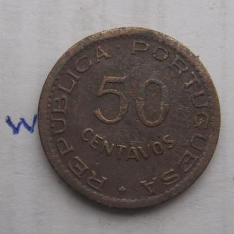ГВИНЕЯ-БИСАУ, 50 сентаво 1952 года.
