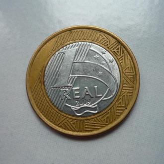 Бразилия 1 реал 2009 биметалл