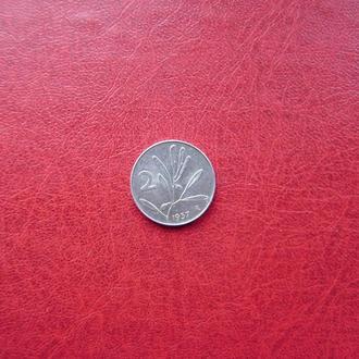 Италия 2 лиры 1957