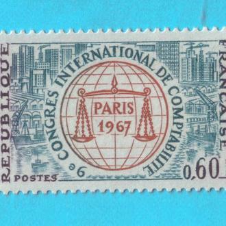 Франция Ми 1596, 1967 год MNH