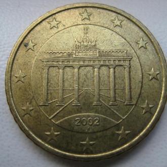 50 евро центов 2002 J Германия
