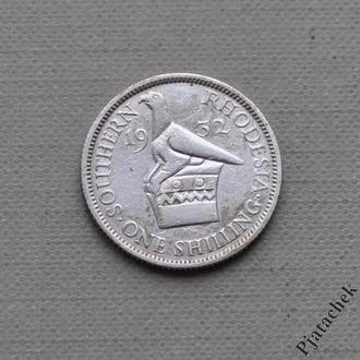 № 2 Южная Родезия 1 шиллинг 1932 Георг V Серебро