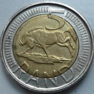 ЮАР 5 рэндов 2014 фауна биметалл
