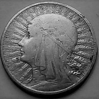 Польша 2 злотых 1932 год  Ядвига СЕРЕБРО!!!
