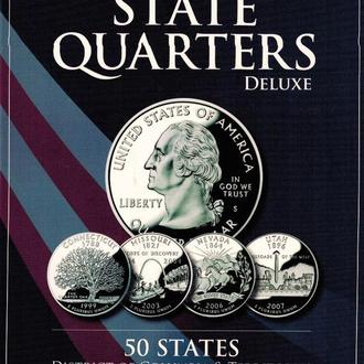 Альбом 25 центов США Штаты и территории 2 двора  альбом штаты